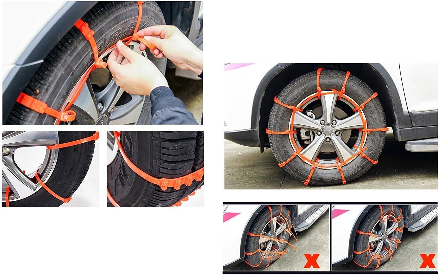 Schneeketten Für Auto Und Lkw Universelle Größe Reifenbreite 175 Mm Bis 295 Mm 10 Stück Auto