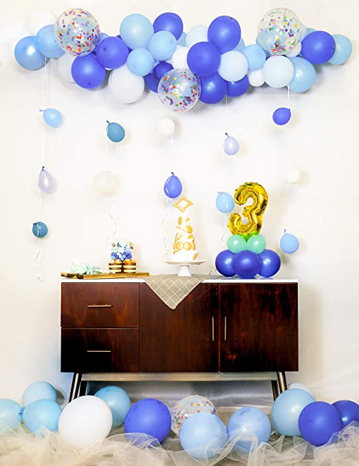 Amazon.com: HomyBasic - Globos de confeti de 11.8 in, color ...
