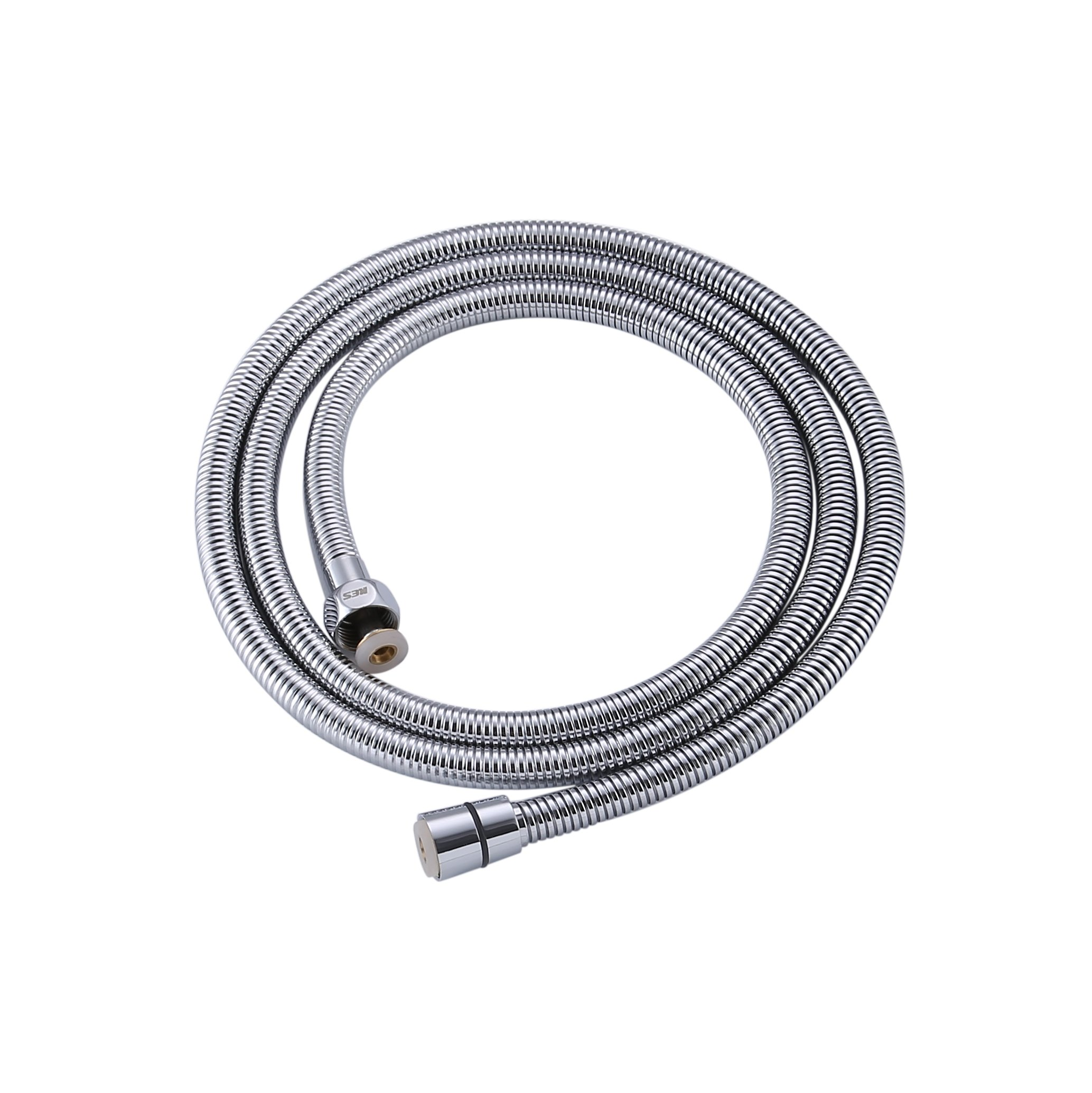 KES I8150 Bathroom Replacement Shower Hose Reinforced High Pressure 5 Ft or 1.5 Meter Stainless Steel Interlock for Shower Head/Bidet Sprayer, Chrome