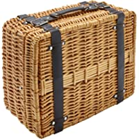 Hoan 5249893 Picnic Basket Set with Utensils and Dinnerware, 2-Person, Assorted
