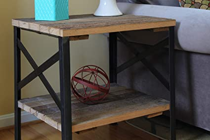 Brilliant Reclaimed Wood End Table Amish Handcrafted In Lancaster County Pa By Urban Legacy Download Free Architecture Designs Scobabritishbridgeorg
