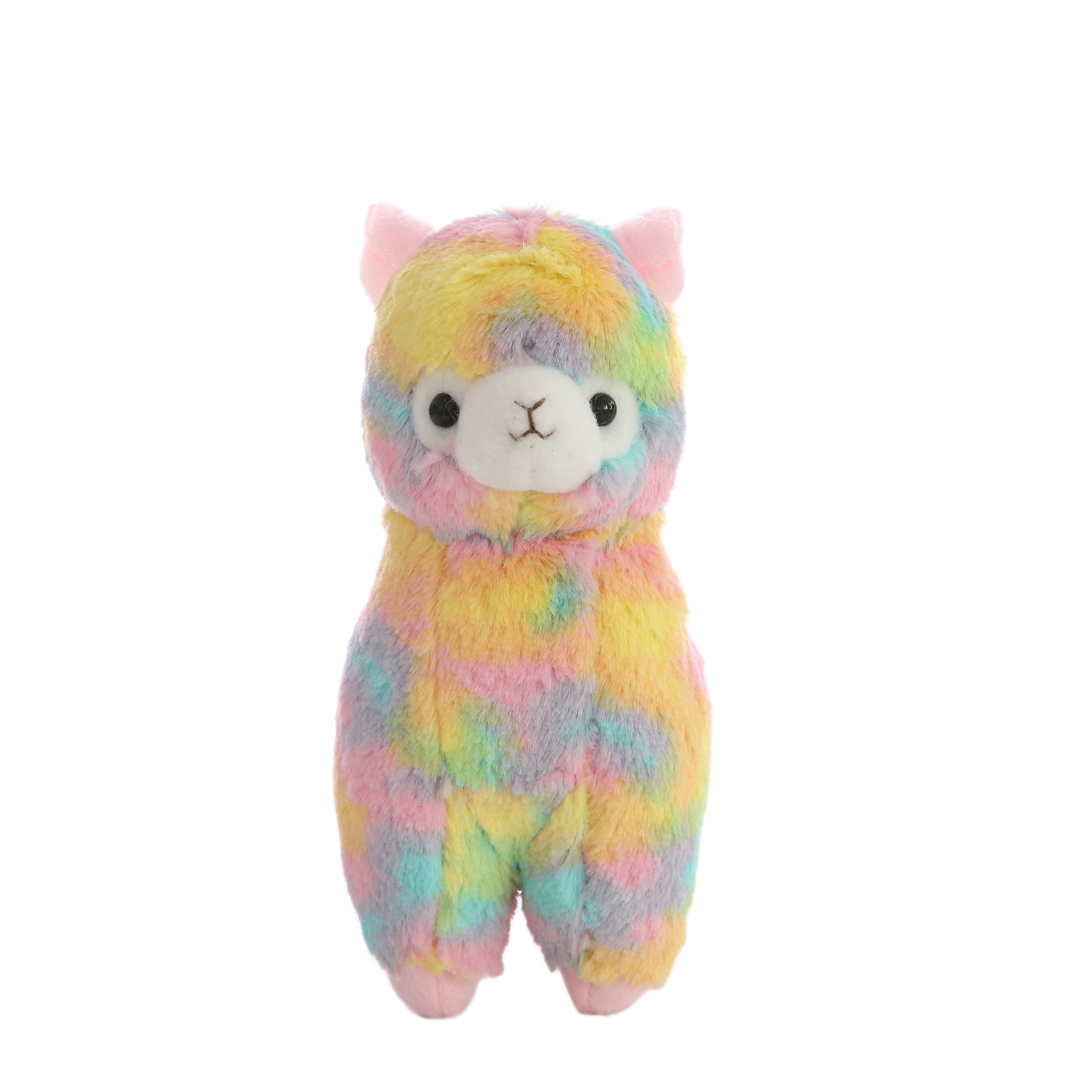 Cuddly Soft Stuffed Toy 7 '' Llama Rainbow Alpaca Doll Lamb Stuffed Animal Toys Kids' Plush Pillow Cushion Fiesta Toy Graduation Valentine's Day Birthday Xmas Christmas Best Gifts