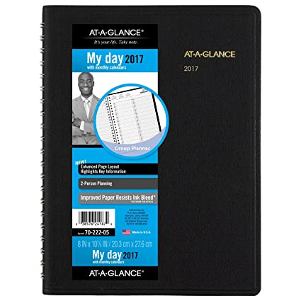 amazon com at a glance daily appointment book planner 2017 two
