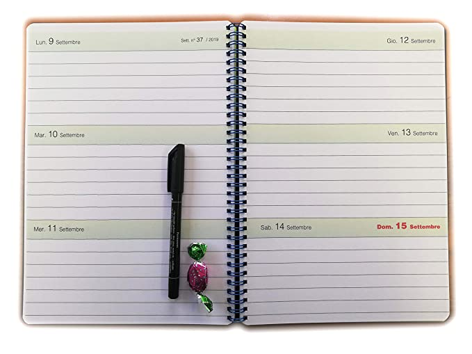 Agenda A4 semanal 2018 - Cuaderno con espiral - Medidas 21 x ...