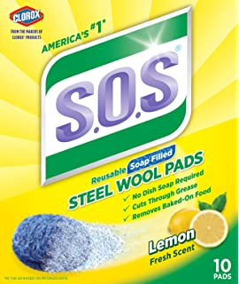 Amazon.com: S.O.S. Clean n Toss Steel Wool Soap Pads, 15 ...