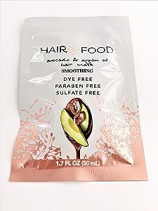 Hair Food Smoothing Avocado & Argan Hair Mask 1.7 Ounce (10 Pieces) (50ml)