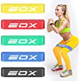 EOX Exercise Resistance Fabric Loop Bands, Non-Slip Resistance Workout Bands for Legs & Butt and Glutes, 5 Resistance Levels