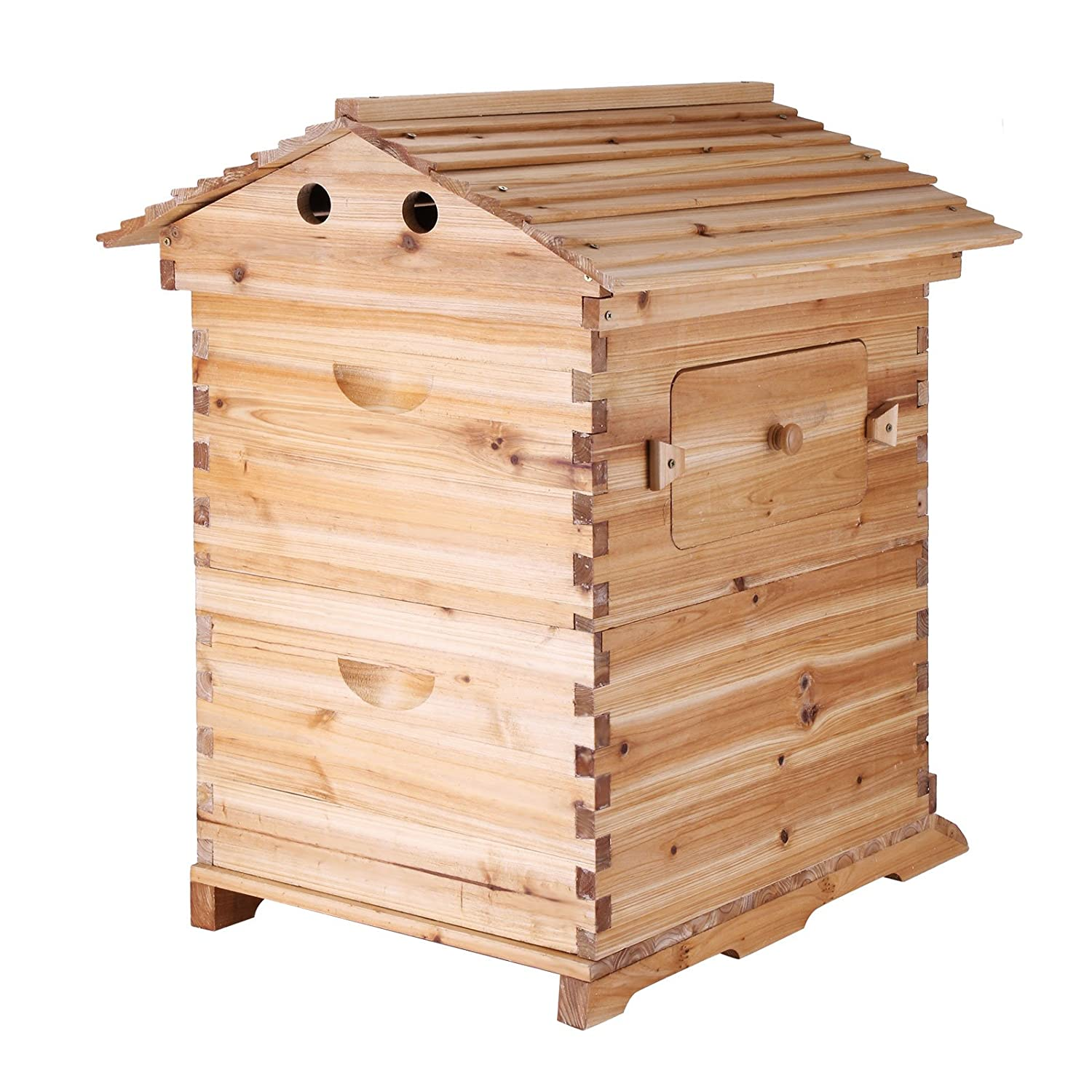amazoncom vevor beehive frames wooden beehive frames bulk automatic honey beehive box kit with 7 standard frames patio lawn u0026 garden