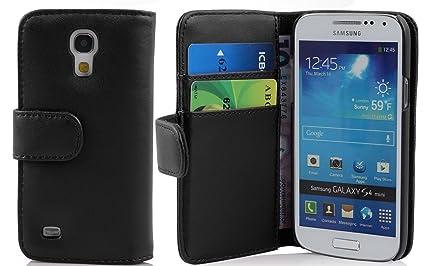 Cadorabo - Book Style Hülle für Samsung Galaxy S4 MINI (GT-I9195) - Case Cover Schutzhülle Etui Tasche mit Kartenfach in KAVI