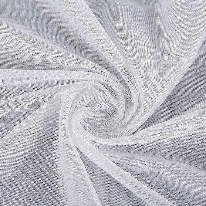 Yous Auto Puff Sofás Cubierta Sillas Sin Relleno,Forro Interior de Puff Sofas Tres Tallas (Blanco, 100_x_120_cm)
