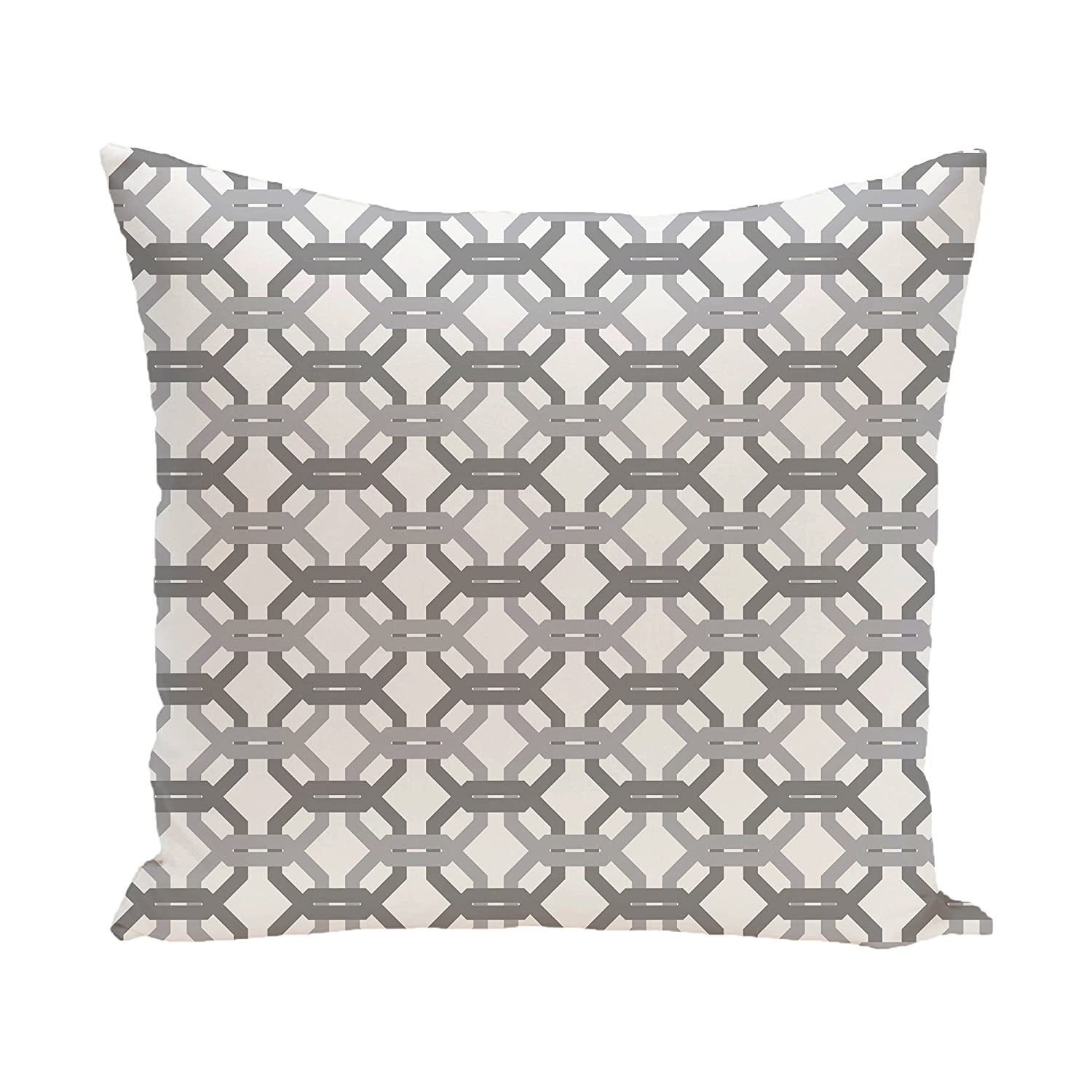 18-Inch Length E by design Were All Connected Geometric Print Pillow Ocean