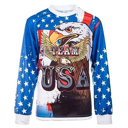 1ce92a68f Amazon.com: KO Sports Gear – Motocross Jersey – Team USA: Sports ...