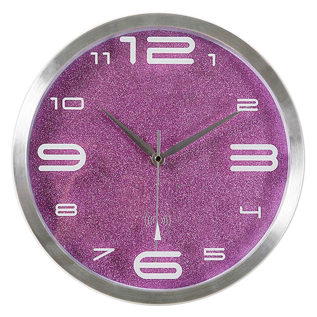 ウォールクロック サイレントヨーロッパクロックウォールクロックリビングルームファッションクリエイティブラージウォールチャート現代電子時計電波時計 (色 : C) B07D7RWR6LC