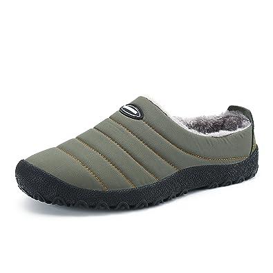 e69917bef Men Women Water-Proof Snow Winter Outdoor Indoor House Slip on Slippers  Shoes (5.5