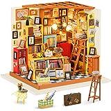 Rolife DIY Miniature Dollhouse Craft Kits for Adults Mini Bookstore Model Building Set Birthday Gift (Sam's Study)