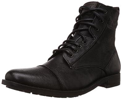 21c65af07ef99 Levi's Men's York Lace Black Leather Boots - 11 UK/India (46 EU ...