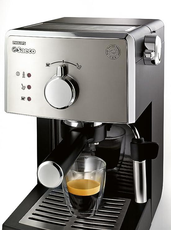 Philips Saeco Poemia - Cafetera espresso manual: Amazon.es: Hogar