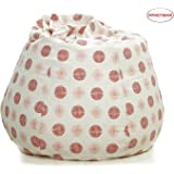 Story@Home Dots Printed Canvas Bean Bag Chair Cover - Size XXL, Maroon