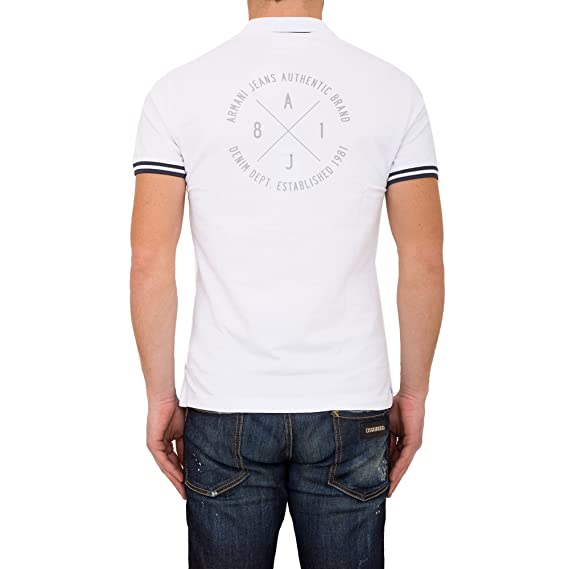 Armani Jeans - Polo Armani Jeans c6 m91qg blanco blanco Large ...