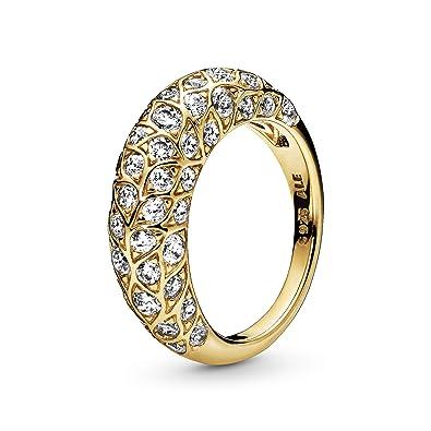 Buy Pandora Jewelry Sparkling Pattern Cubic Zirconia Ring in ...