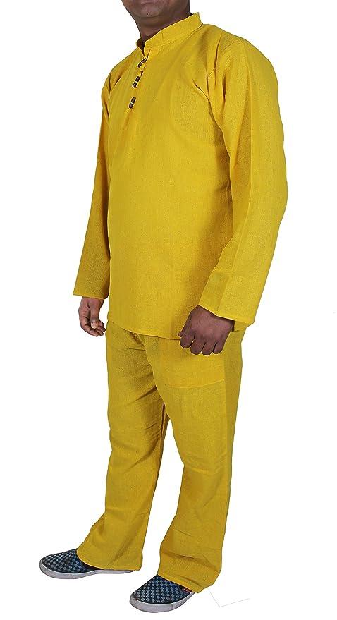 SKAVIJ Ropa interior 100% de la ropa de noche de la camisa de las bragas del pijama del algodón del khadi de la primaveral - tamaño s: Amazon.es: Ropa y ...