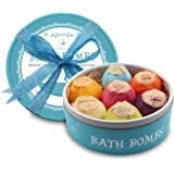 Bath Bombs, Birthday Anniversary Valentine's Day Gifts for Wife, Girlfriend, Her - 7 Large Natural Organic Relaxation Moisturizing SPA Fizzies With added Detox Ability by PURENJOY
