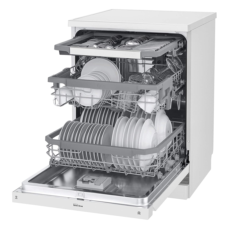 LG DF215FW - Lavavajillas con tecnología QuadWash (Inverter Direct ...