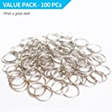Prudance 100PCS Lead Free Nickel Plated Steel Round