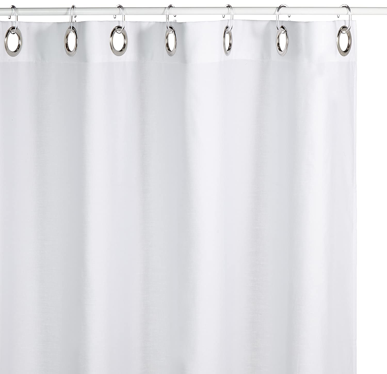 Amazon Sealskin Extra Long Hookless Shower Curtain 72 X 78 Inch Coloris Off White Cotton Home Kitchen