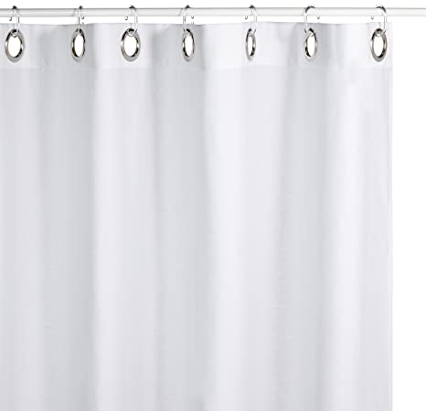 Sealskin Extra Long Hookless Shower Curtain 72 X 78 Inch Coloris Off White Cotton