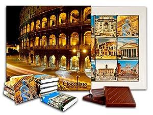 DA CHOCOLATE Candy Souvenir ROME Chocolate Gift Set 5x5in 1 box (Colosseo night)