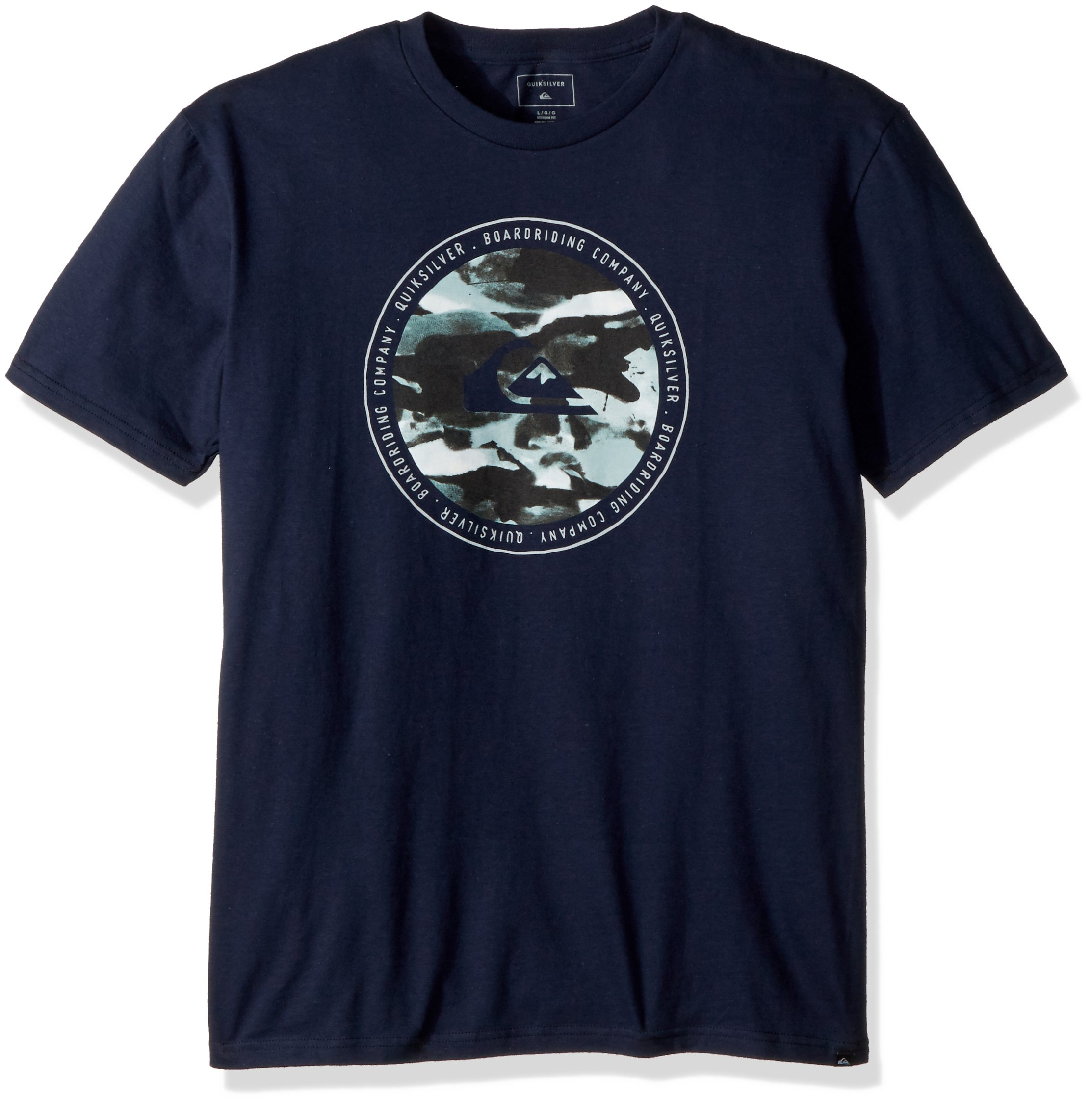 Quiksilver Men's Resin Feel T-Shirt, Navy Blazer, M