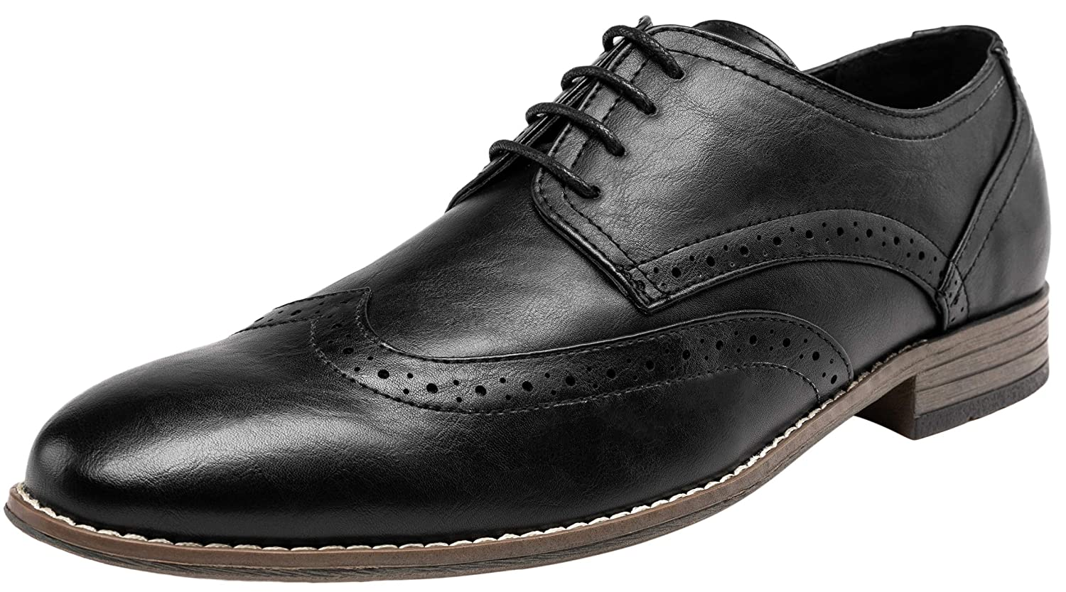7e42c94302c Amazon.com | JOUSEN Men's Oxford Plain Toe Dress Shoes Classic Formal Derby  Shoes | Oxfords