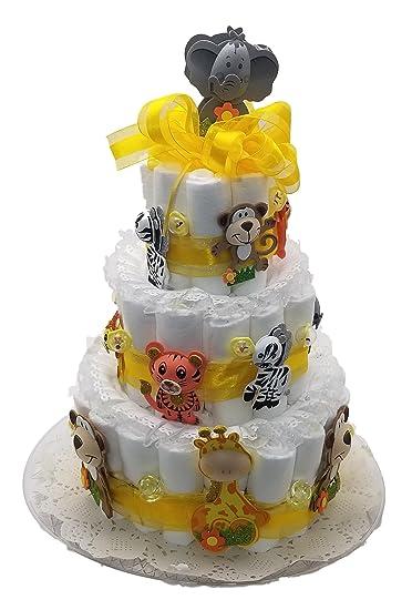Amazon Noahs Ark Jungle Animals Baby Shower Diaper Cake Kit