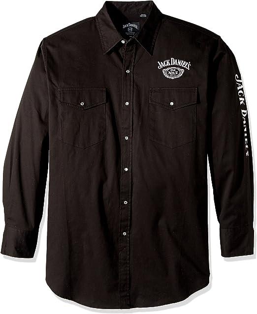 Jack Daniels Men/'s Star Pocket T-Shirt Black