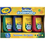 Crayola Washable Kids Fingerpaints, Paint Supplies for Kids, 2 Years, 3 Years, Non-Toxic, Pre-School