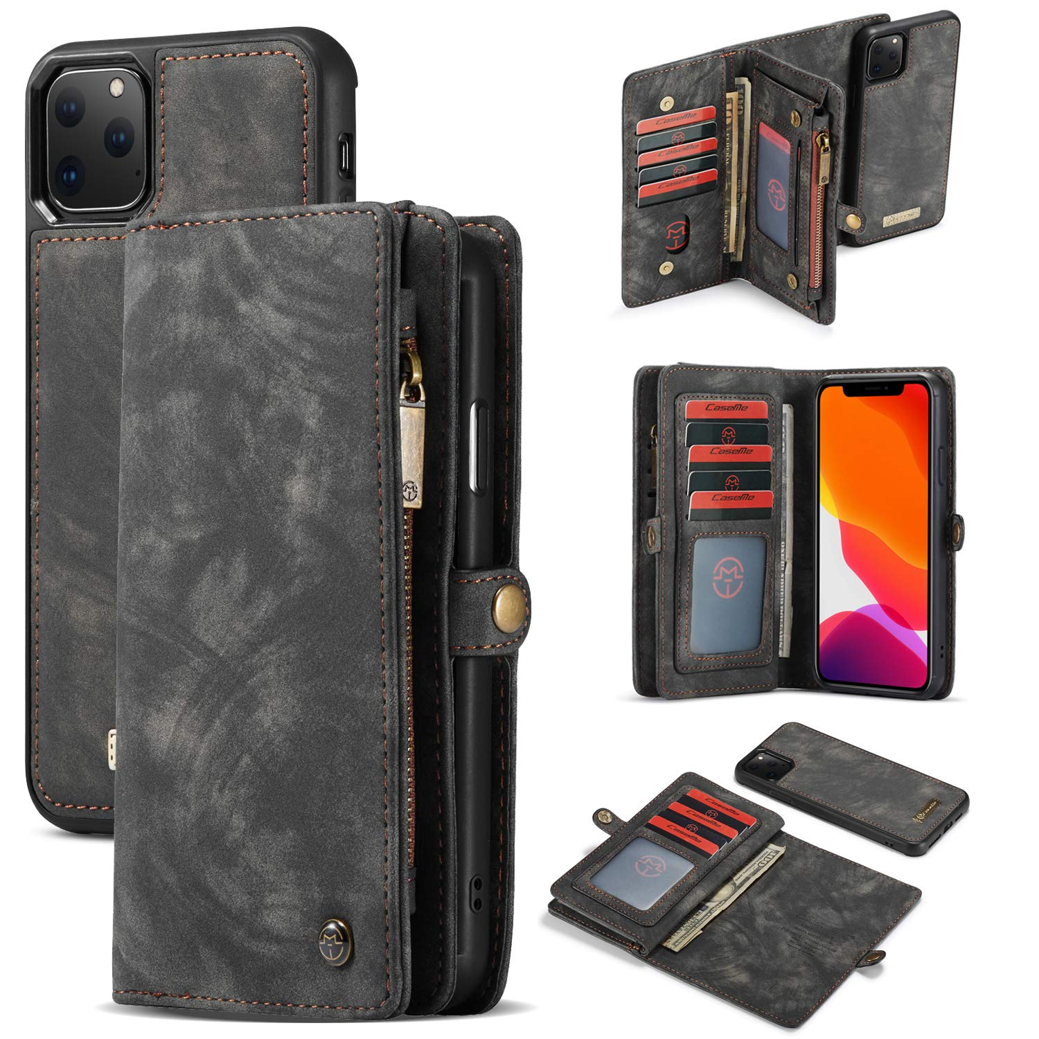 iPhone 11 Pro Case for Women, 【2019 New】 360° Stylish Wallet Case Full Body Protective Phone Cover 6.5 inch iPhone Cover Kickstand Back Shell Folio Purse with Card Slot for iPhone Xi Max 6.5 inch by Byoung