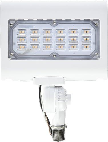 Morris 71556 30W 3000K LED Flat Panel Flood Light with 1 2 Adjustable Knuckle Mount, 2900 lm, 120-277V, White