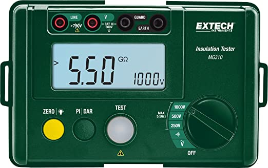 500 Medidor de aislamiento digital Megger MegOhm Meter DC250 1000V AC750V Negro VC60B