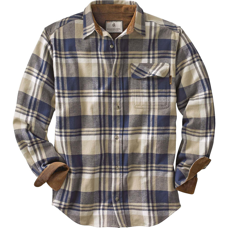 Legendary Whitetails Buck Camp Flannels Shale Plaid Medium