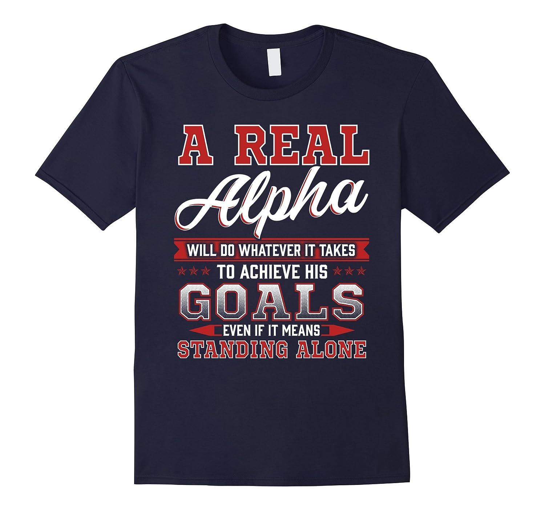 Alpha Male Shirt Gym Run Fitness Workout Lift Sport Training-TH