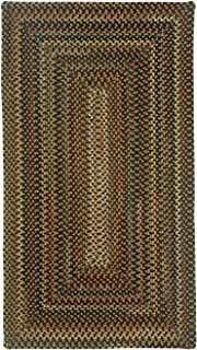 product image for Capel Rugs Bangor Very Charcoal 5' x 8' Concentric Rectangle Braided Rug