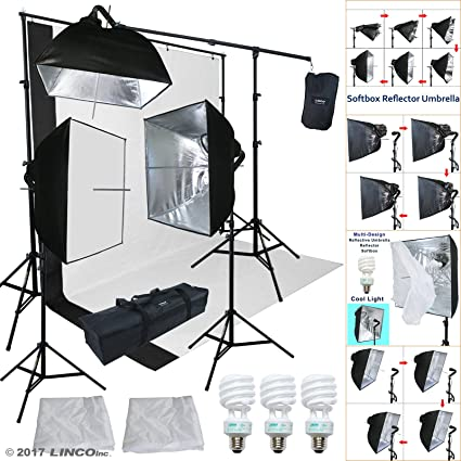 Linco Lincostore Studio Lighting 3 Point Light Backdrop Background Support with Boom Arm Stand and Counterweight & Amazon.com : Linco Lincostore Studio Lighting 3 Point Light Backdrop ...
