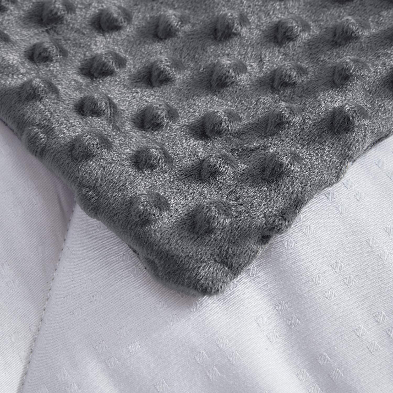 120x180cm puredown/® Cubierta de Manta Ponderada Lavable a M/áquina Caqui Funda Desmontable de Manta de Gravedad