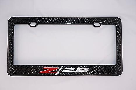 Amazon.com: Chevy Z28 Carbon Fiber License Plate Frame: Automotive