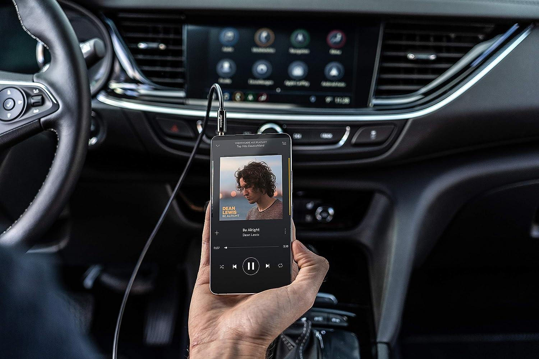 Kopfh/örerkabel MP3 Player Smartphone Lautsprecherkabel f/ür Kopfh/örer 3,5mm Klinkenkabel Vergoldet Auto Kfz Autoradio Poppstar 20m Audio Kabel Klinke Schwarz
