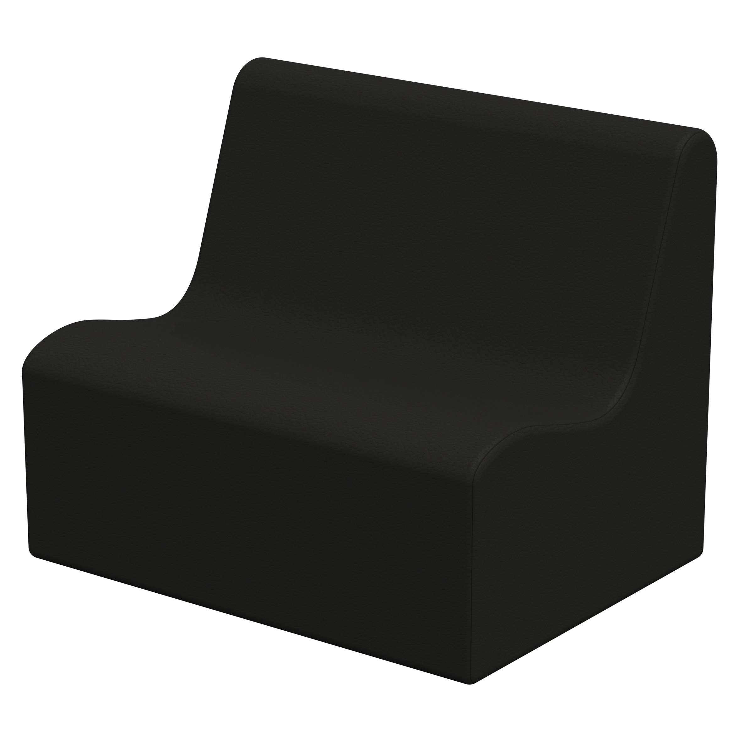 ECR4Kids Softzone Toddler Wave Sofa, Ergonomic Chair for Kids - Black