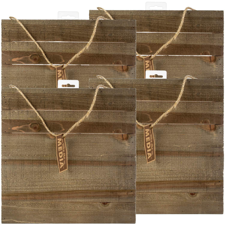 Jillibean 95184 Mix The Media Wooden Plank 4/Pkg 12x12 Dark 4 Pack by Jillibean