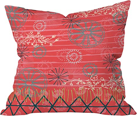Amazon Com Deny Designs Kerrie Satava Citrus Burst Throw Pillow 20 X 20 Home Kitchen