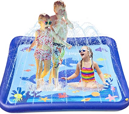Splash N/' Fun Outdoor Inflatable Sprinkler Mat for Toddlers and Girls Boys